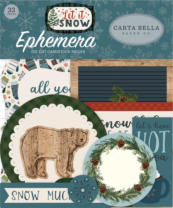 Carta Bella Ephemera Die-Cuts - Let It Snow