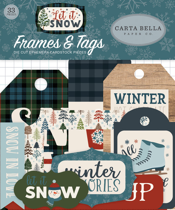 Carta Bella Frames & Tags Die-Cuts - Let It Snow