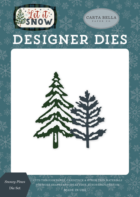 Carta Bella Designer Dies - Let It Snow - Snowy Pines Die Set