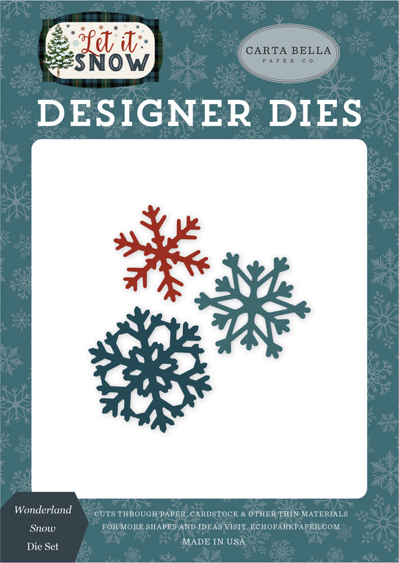 Carta Bella Designer Dies - Let It Snow - Wonderland Snow Die Set