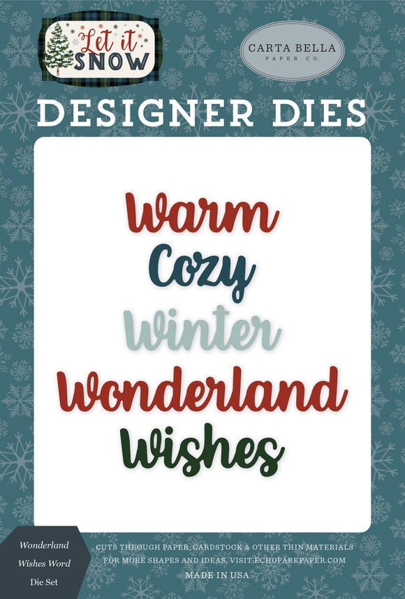 Carta Bella Designer Dies - Let It Snow - Wonderland Wishes Word Die Set