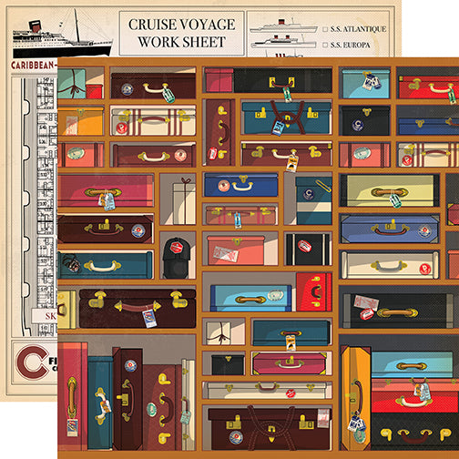 Carta Bella Papers - Let's Cruise - Baggage - 2 Sheets