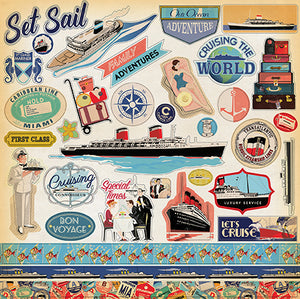 Carta Bella 12x12 Cardstock Stickers - Let's Cruise - Elements