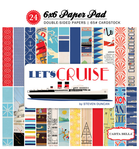 Carta Bella 6x6 Pad - Let's Cruise
