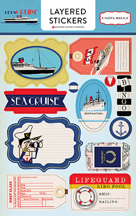 Carta Bella Layered Stickers - Let's Cruise