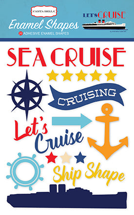 Carta Bella Enamel Stickers - Let's Cruise