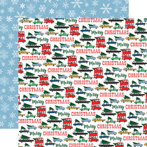 Carta Bella Papers - Merry Christmas - Tree Shopping - 2 Sheets