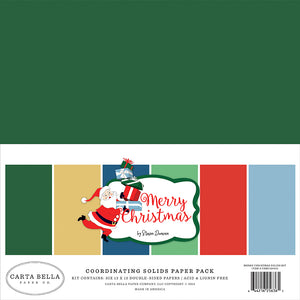 Carta Bella Solids Paper Pack - Merry Christmas - Paper Pack