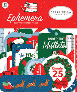 Carta Bella Ephemera Die-Cuts - Merry Christmas