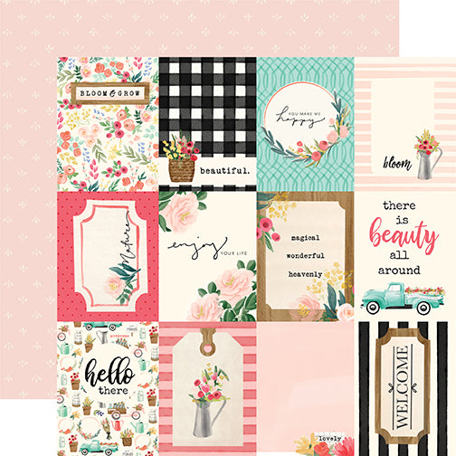 Carta Bella Cut-Outs - Flower Market - 3x4 Journaling Cards