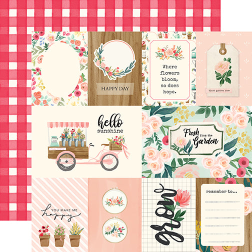 Carta Bella Cut-Outs - Flower Market - Multi Journaling Cards
