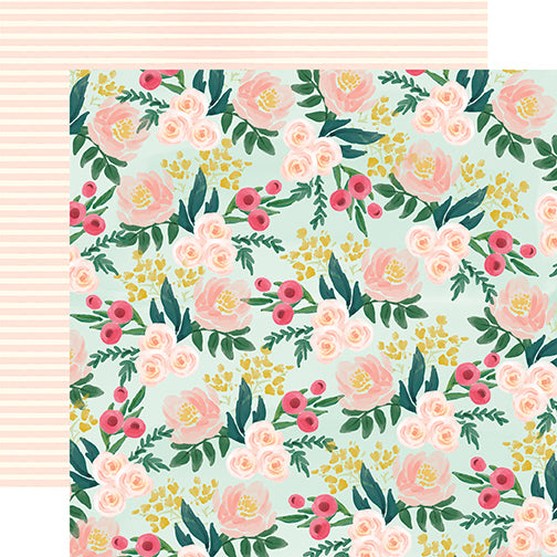 Carta Bella Papers - Flower Market - Garden Floral - 2 Sheets