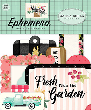 Carta Bella Ephemera Die-Cuts - Flower Market