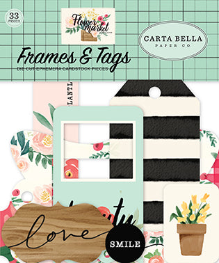 Carta Bella Frames & Tags Die-Cuts - Flower Market