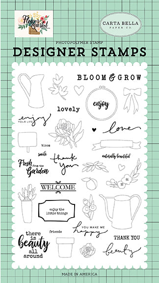 Carta Bella Clear Stamp Set - Flower Market - Beauty All Around