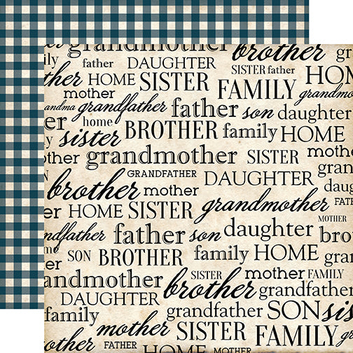 Carta Bella Papers - Our Family - My Family - 2 Sheets