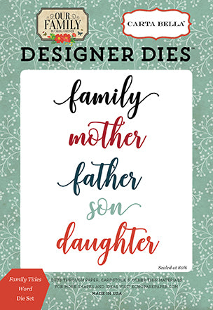 Carta Bella Designer Dies - Our Family - Family Titles