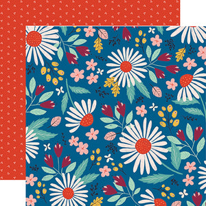 Carta Bella Papers - Our House - Country Floral - 2 Sheets