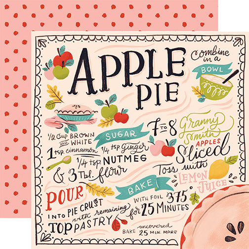 Carta Bella Papers - Our House - Apple Pie - 2 Sheets