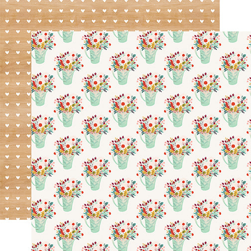 Carta Bella Papers - Our House - Flower Pots - 2 Sheets