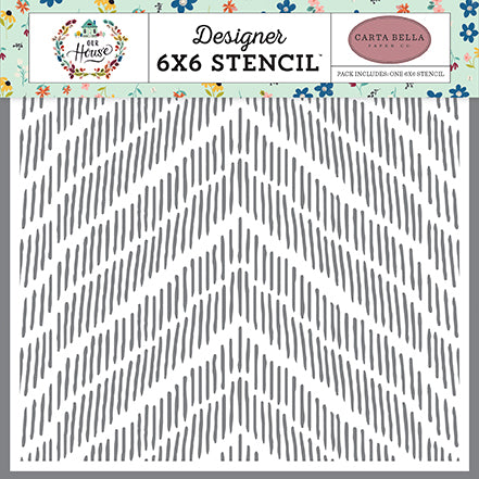 Carta Bella 6x6 Stencil - Our House - Distressed Chevron