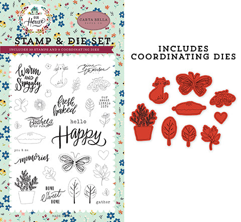 Carta Bella Die and Stamp Set - Our House - Sweet Little Life