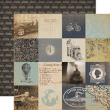 Carta Bella Cut-Outs - Old World Travel - 3x3 Cards