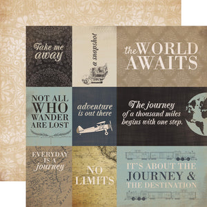 Carta Bella Cut-Outs - Old World Travel - Journaling Cards