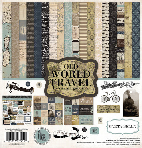 Carta Bella Collection Kit - Old World Travel
