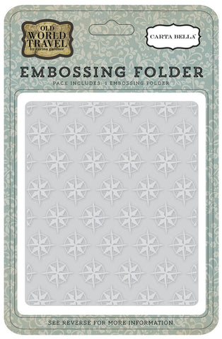 Carta Bella Embossing Folder - Compass