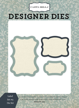 Carta Bella Designer Dies - Old World Travel - Label Set #9