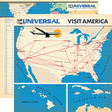 Carta Bella Papers - Passport - Flight Map - 2 Sheets