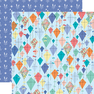 Carta Bella Papers - Practically Perfect - Dancing Kites - 2 Sheets