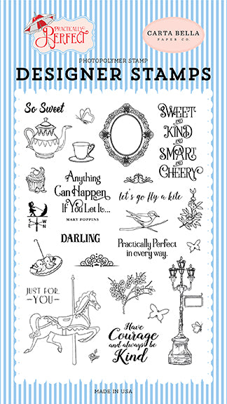 Carta Bella Clear Stamp Set - Practically Perfect