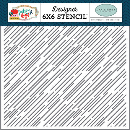Carta Bella 6x6 Stencil - Pack Your Bags - Destination Stripe