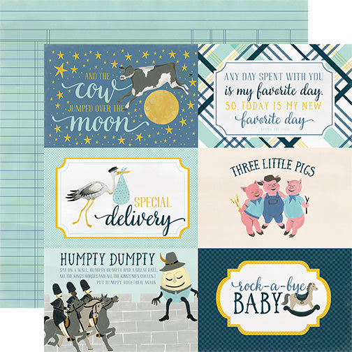 Carta Bella Cut-Outs - Rock-a-Bye Baby - Boy - 4x6 Journaling Cards