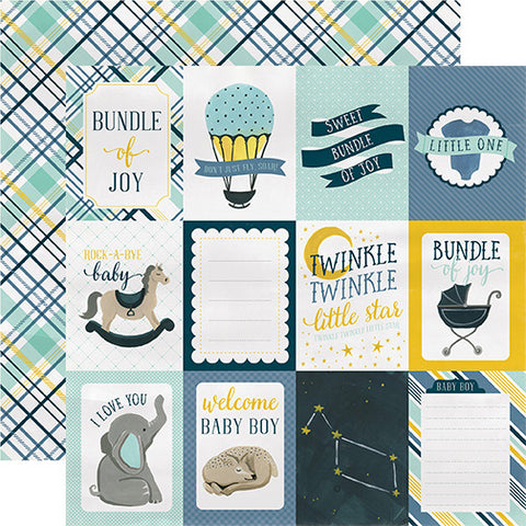Carta Bella Cut-Outs - Rock-a-Bye Baby - Boy - 3x4 Journaling Cards
