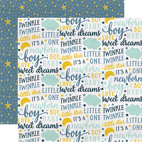Carta Bella Papers - Rock-a-Bye Baby - Boy - Sweet Dreams - 2 Sheets