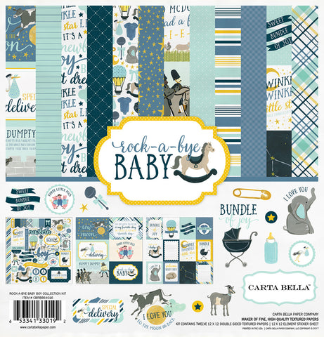 Carta Bella Collection Kit - Rock-A-Bye Baby - Boy
