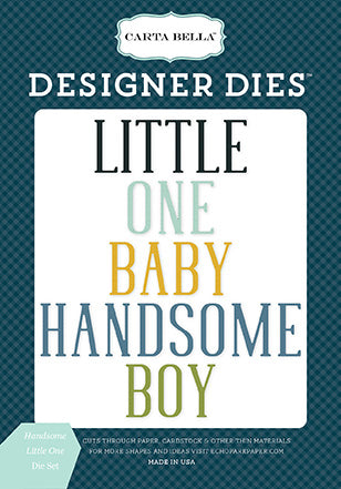 Carta Bella Designer Dies - Rock-a-Bye Baby - Boy - Handsome Little One Set