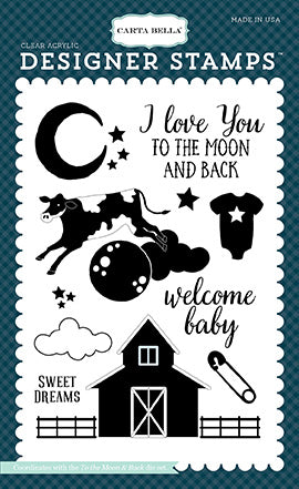 Carta Bella Stamp and Die Set - Rock-a-Bye Baby - Boy
