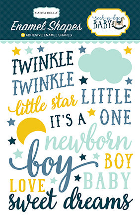 Carta Bella Enamel Stickers - Rock-a-Bye Baby - Boy - Phrases