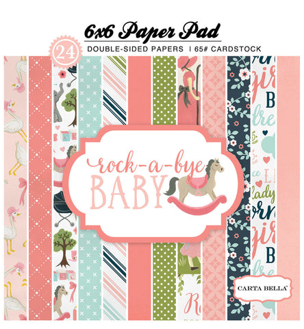 Carta Bella 6x6 Pad - Rock-A-Bye - Girl