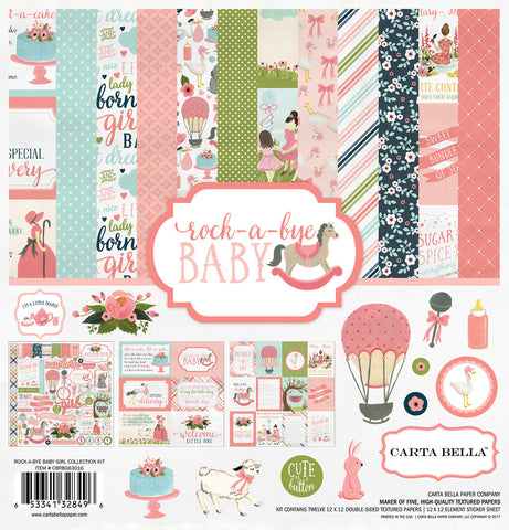 Carta Bella Collection Kit - Rock-A-Bye Baby - Girl