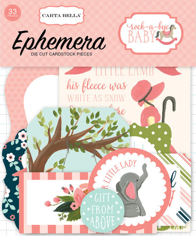 Carta Bella Ephemera Die-Cuts - Rock-A-Bye Baby - Girl