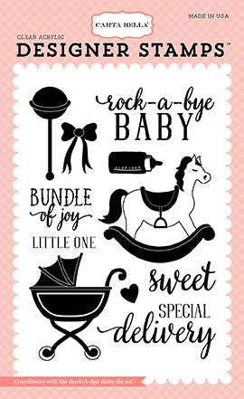 Carta Bella Die and Stamp Set - Rock-a-Bye Baby - Girl