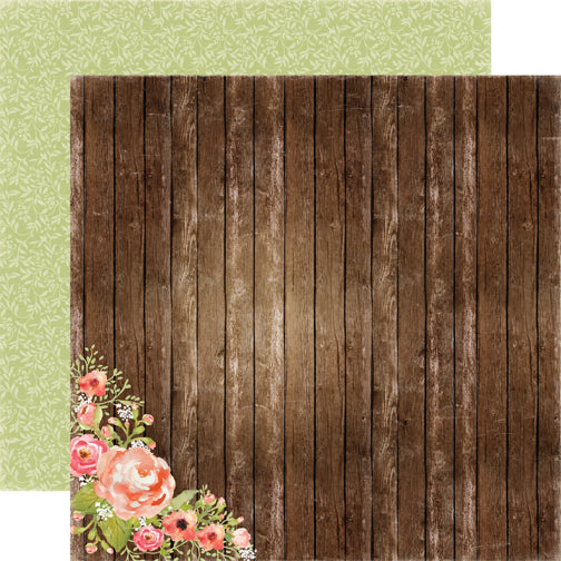Carta Bella Papers - Rustic Elegance - Wood Floral - 2 Sheets