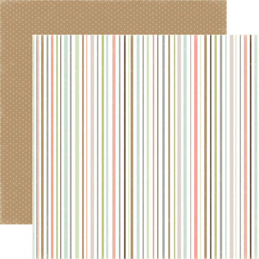Carta Bella Papers - Rustic Elegance - Multi Stripe - 2 Sheets