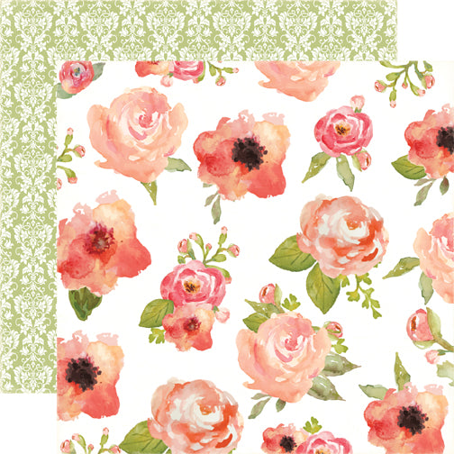Carta Bella Papers - Rustic Elegance - Flowers - 2 Sheets