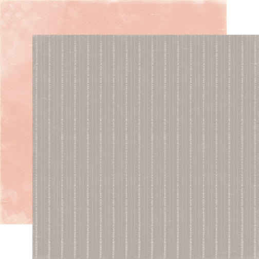 Carta Bella Papers - Rustic Elegance - Gray Stripe - 2 Sheets